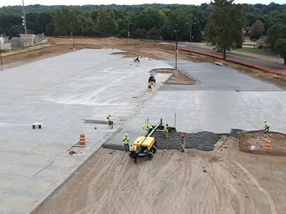 Burke High School Parking Lot Commercial Services Commercial concrete contractors Omaha NE