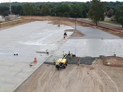 Burke High School Parking Lot Commercial Services Commercial concrete contractors Omaha NE